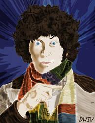Tom Baker Sketch: Coloured by DoctorWhoIV