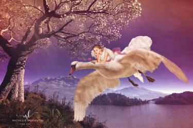 Girl On Swanfb by MichellewBradford
