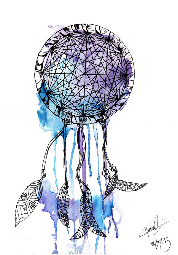Dreamcatcher Colourful Ink Paintings
