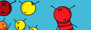 Redrawn Buzzy Bee Characters