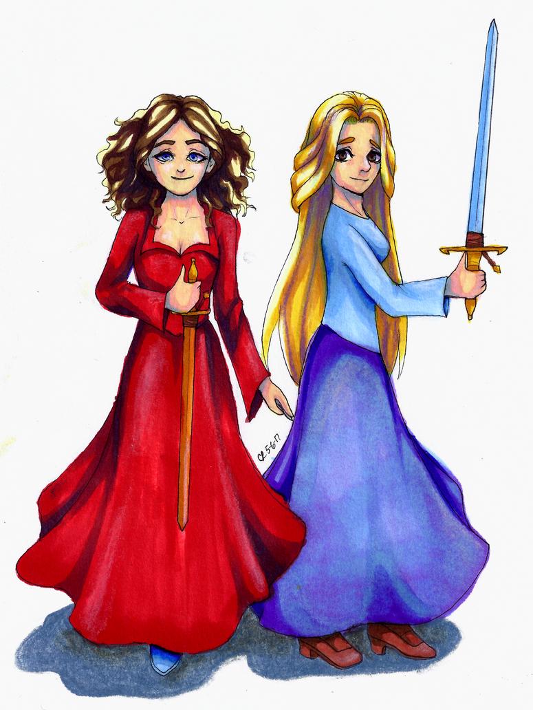 Celestia and Elisa by CHRISLOVER4LYFE