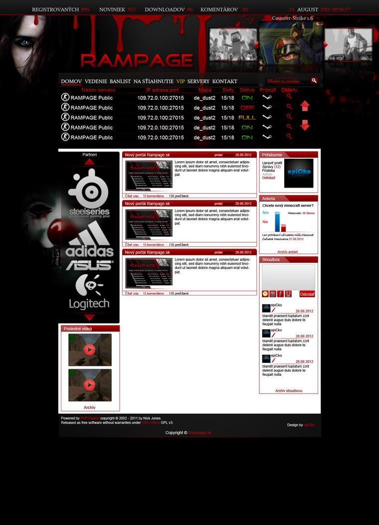 Rampage.sk webdesign by epicko