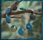 Impression jasper coin bracelet by StephaniePride