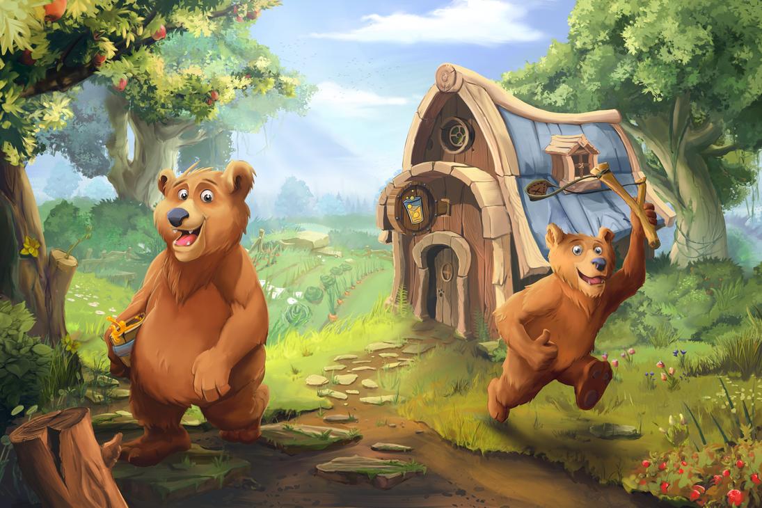 Bear Title Screen by minu5natul