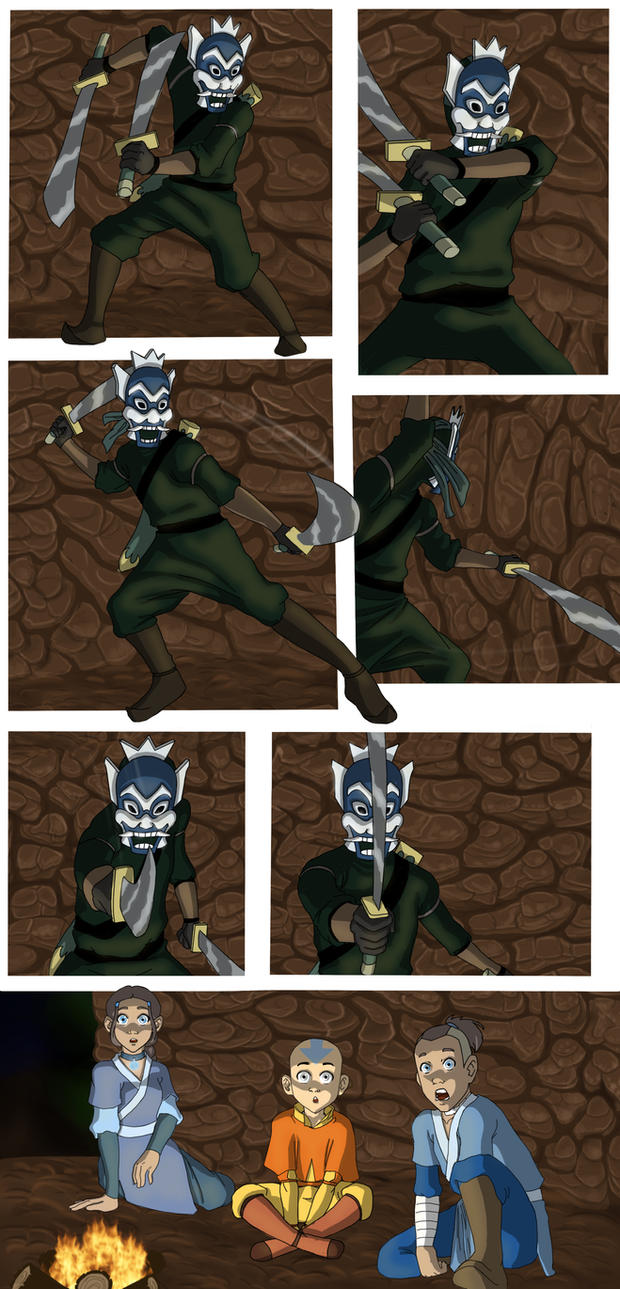 Avatar: Bringing Out the Blue Fancomic page 6 by aileri