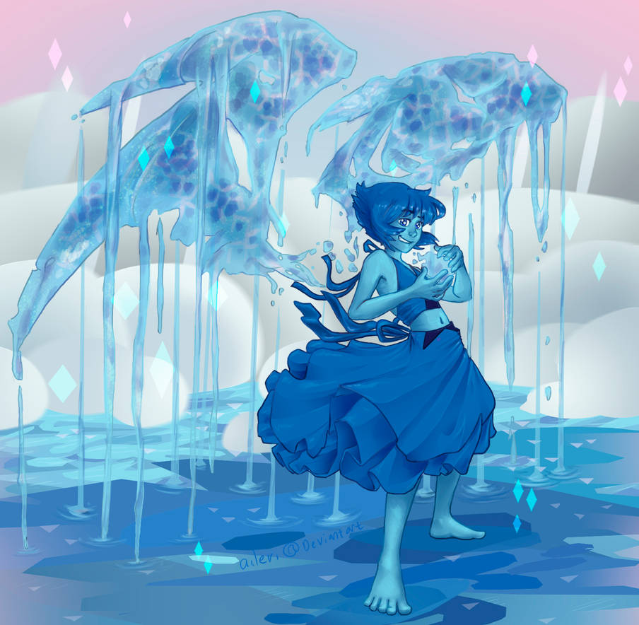 """Maybe I'm tired of running away."" -------------------------------------------------------------- Coloured version of this outline: www.deviantart.com/aileri/art/… Lapis Lazuli from the..."