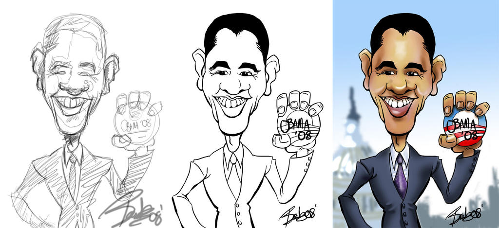 Obama Caricature by BartBar