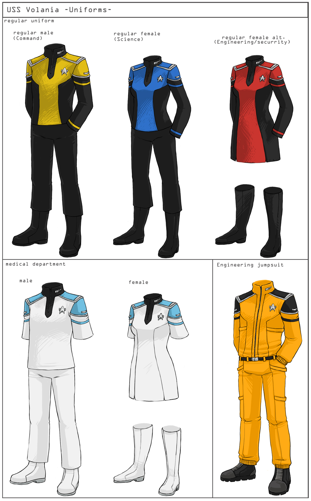 ST Uniforms Concept By Nomnomroko On DeviantArt