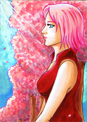 Contest Prize: ACEO - Sakura by pink-gizzy
