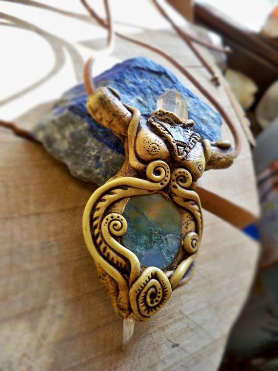 pagan goddess amulet by chacruna-mtina