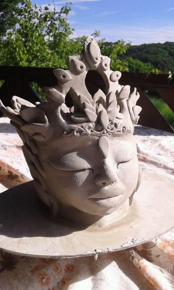 baby krishna ceramic vase by chacruna-mtina