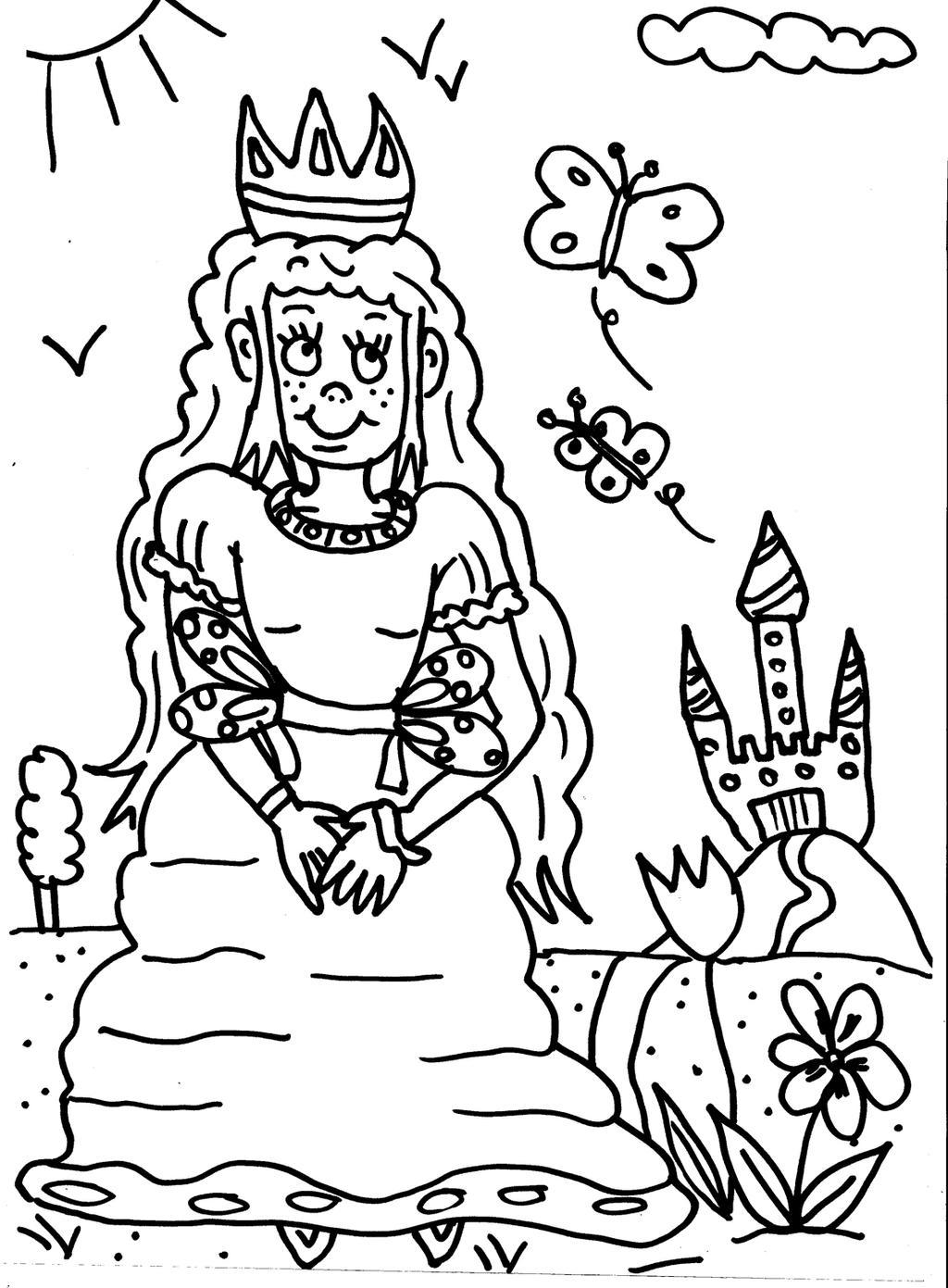 Coloriage Princesse By Lylawenn On Deviantart