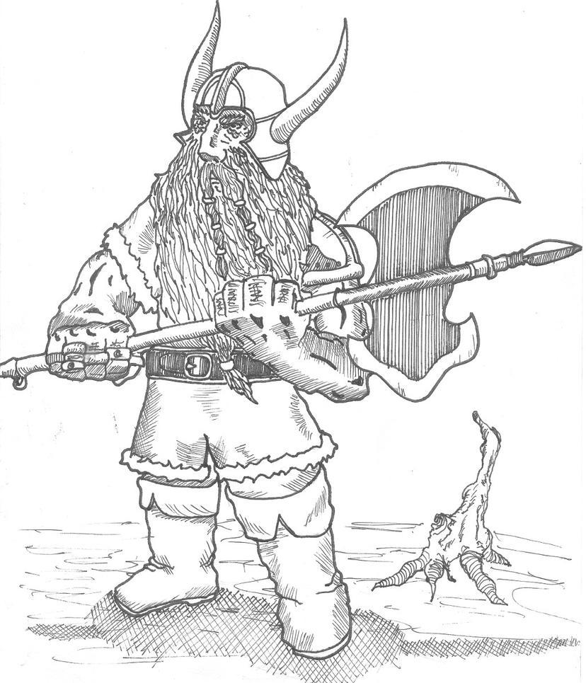 dwarf warrior by dejuro kans