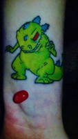 The Girl With The Reptar Tattoo by robotic-cupcake