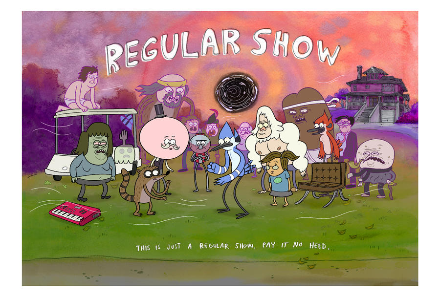Regular Show Poster by JGQuintel