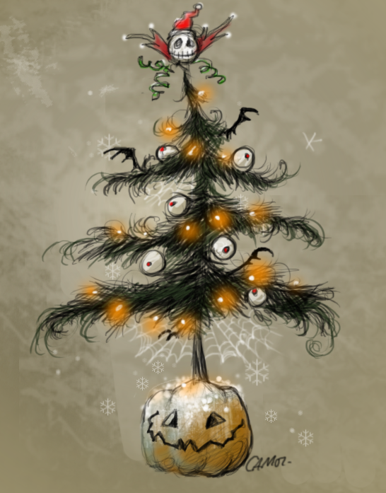 Perfect Halloween Christmas Tree. by sketchpad232 on DeviantArt NP45