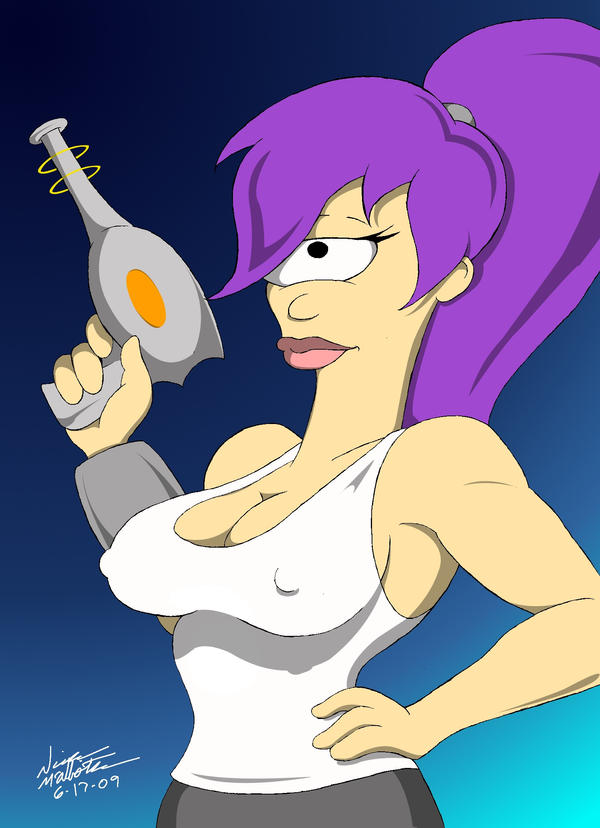 Sexy Leela now in Amazo-Color by dinohunterx on DeviantArt