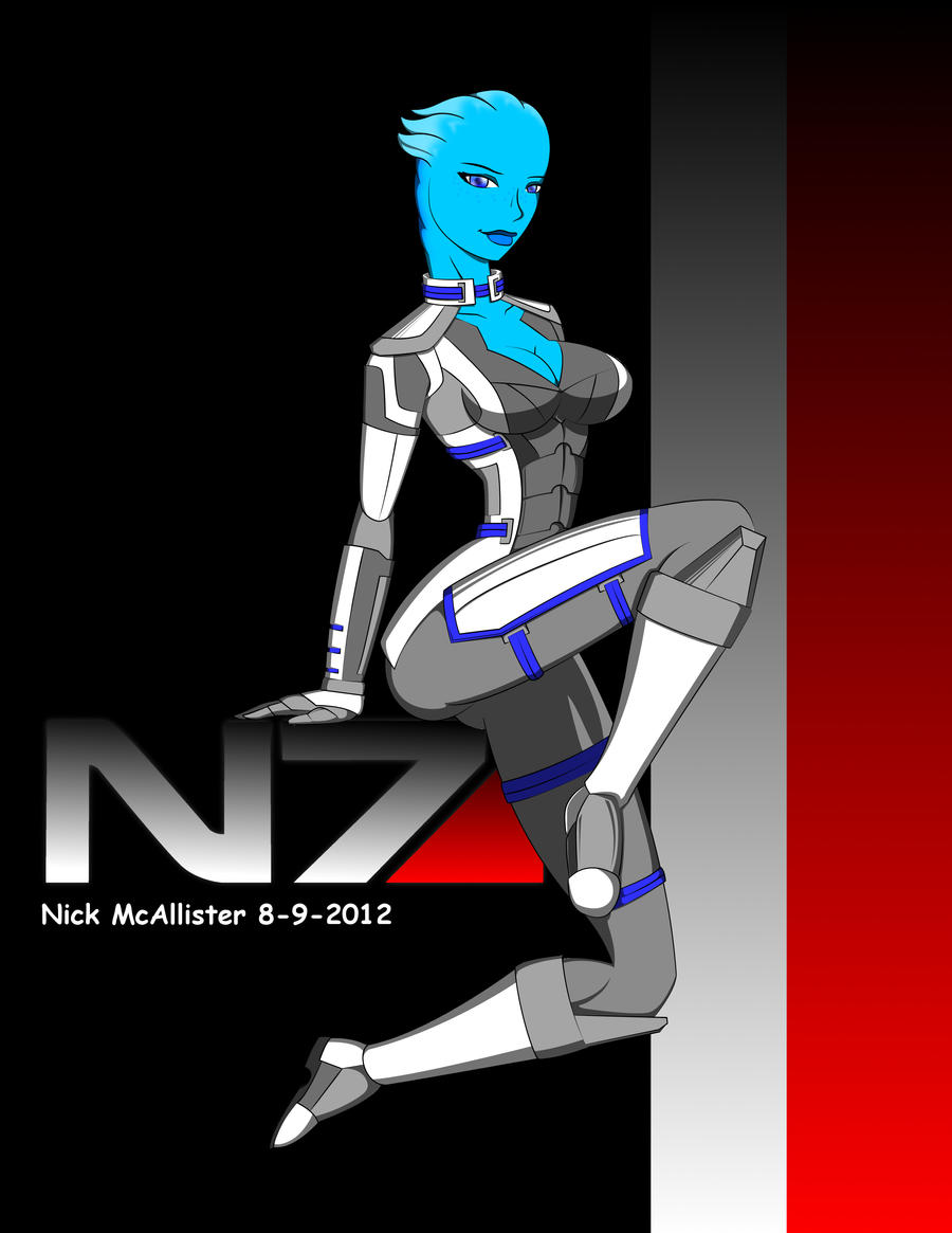 Liara Pin up by dinohunterx