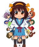 The Melancholy of Haruhi-chan Suzumiya - Render2