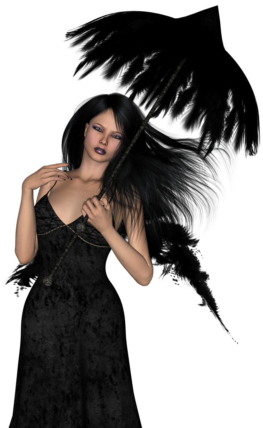 dark angel stock 002 by Ecathe
