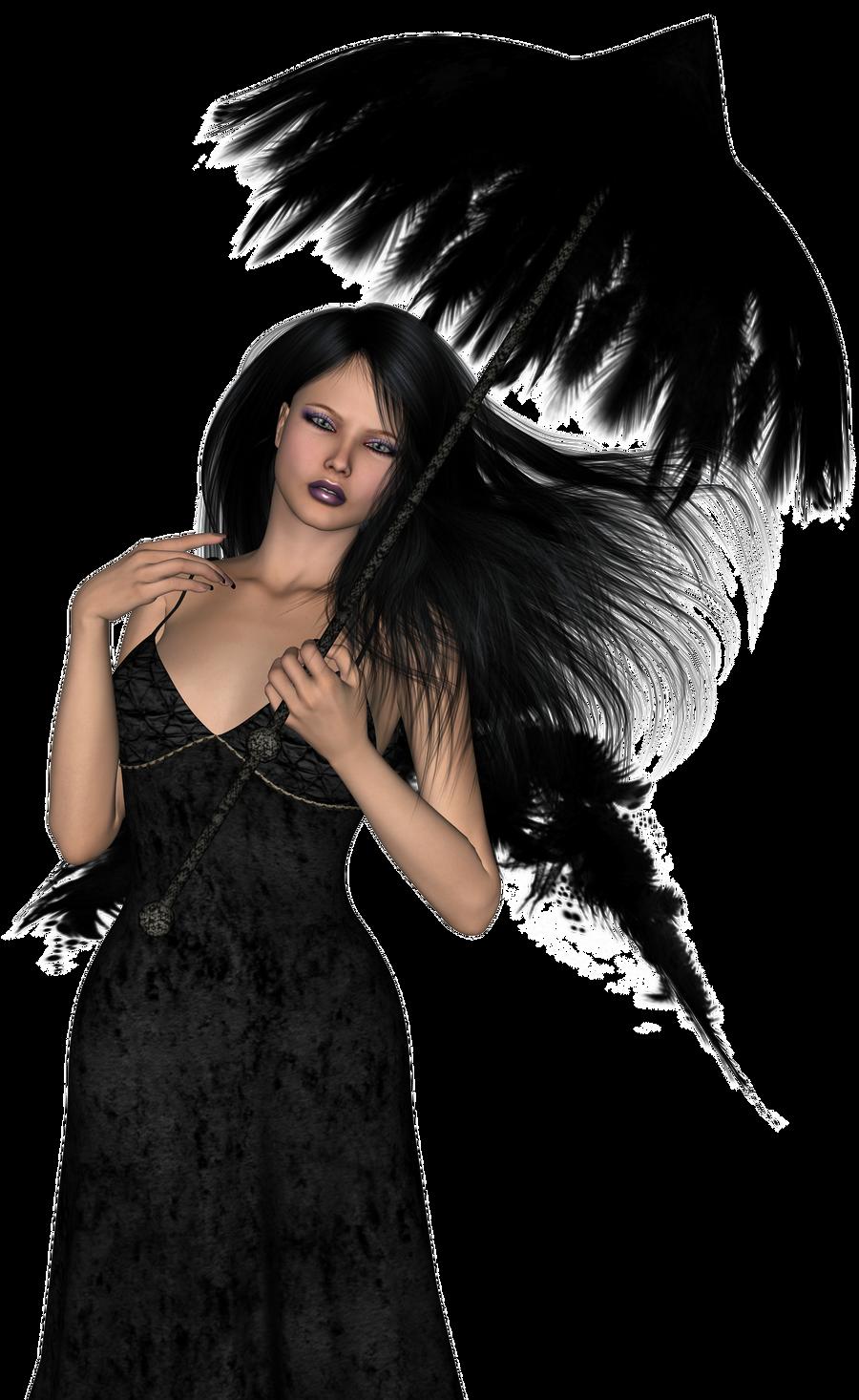 dark angel stock 002 by Ecathe