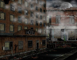 Ruin stock city day by Ecathe