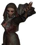 The zombie nun stock png 01