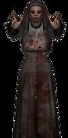 Zombie Nun stock png 02