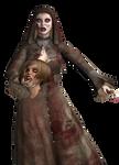 Zombie Nun with head stock 03