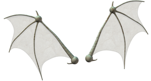 Bat wings stock