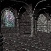 premade  background room 03 by Ecathe