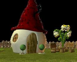 Elf Fairy house 03 by Ecathe
