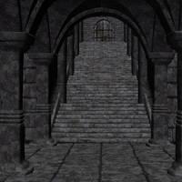 stairway stock render 0256V by Ecathe