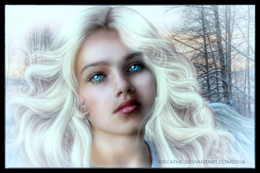 In the eyes of an angel by Ecathe