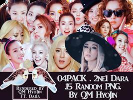 [PNG] 04Pack 2NE1 Dara by qm-hyojin