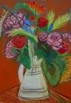 Flowers in a jug by RosieKitten