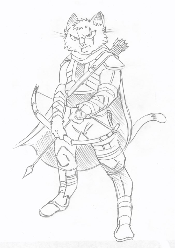Cat Warrior by karcreat