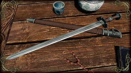 Blessed Silver Sword 1 by RonnieTheBlacksmith