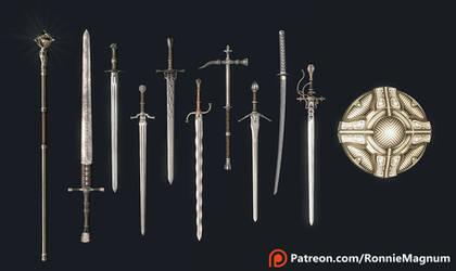 Swordsman's Assortment by RonnieTheBlacksmith
