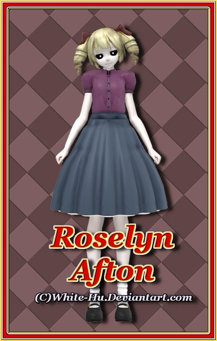 FNAF SL Roselyn Afton (Ghost version) by White-Hu