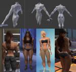Sims 4 Bodybuilder mesh