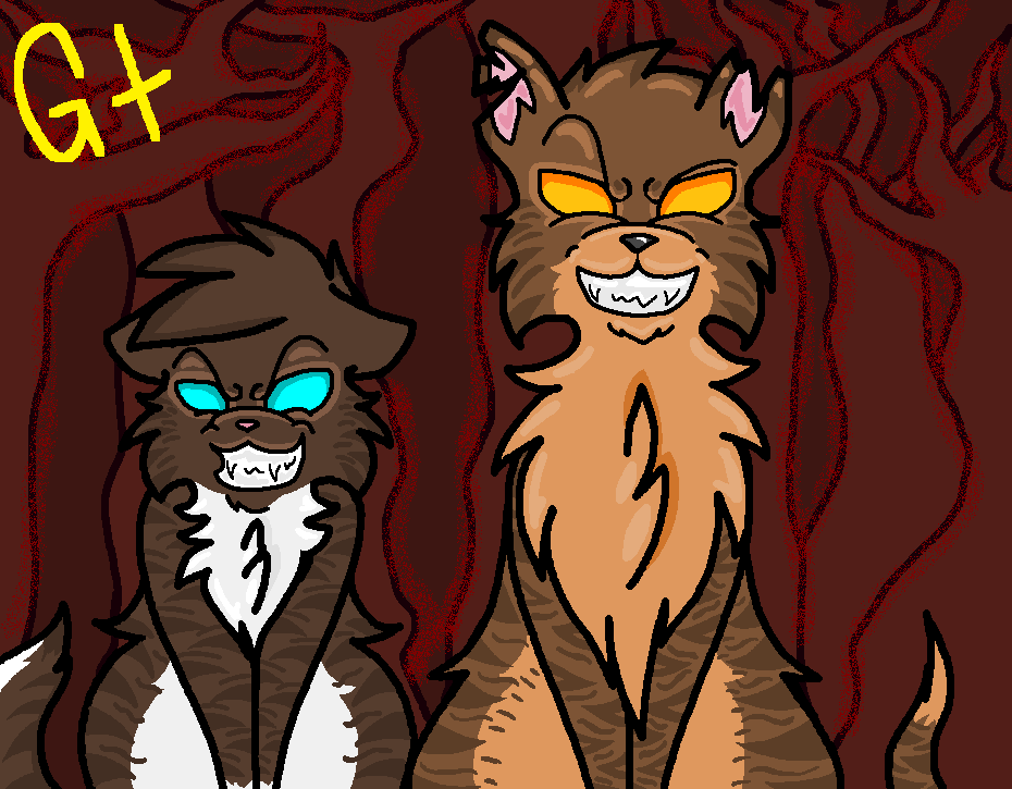 Warrior Cats Hawkfrost And Mothwing