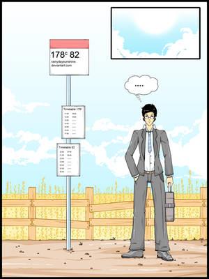 Bus stop ipad res by RainyDaySunshine