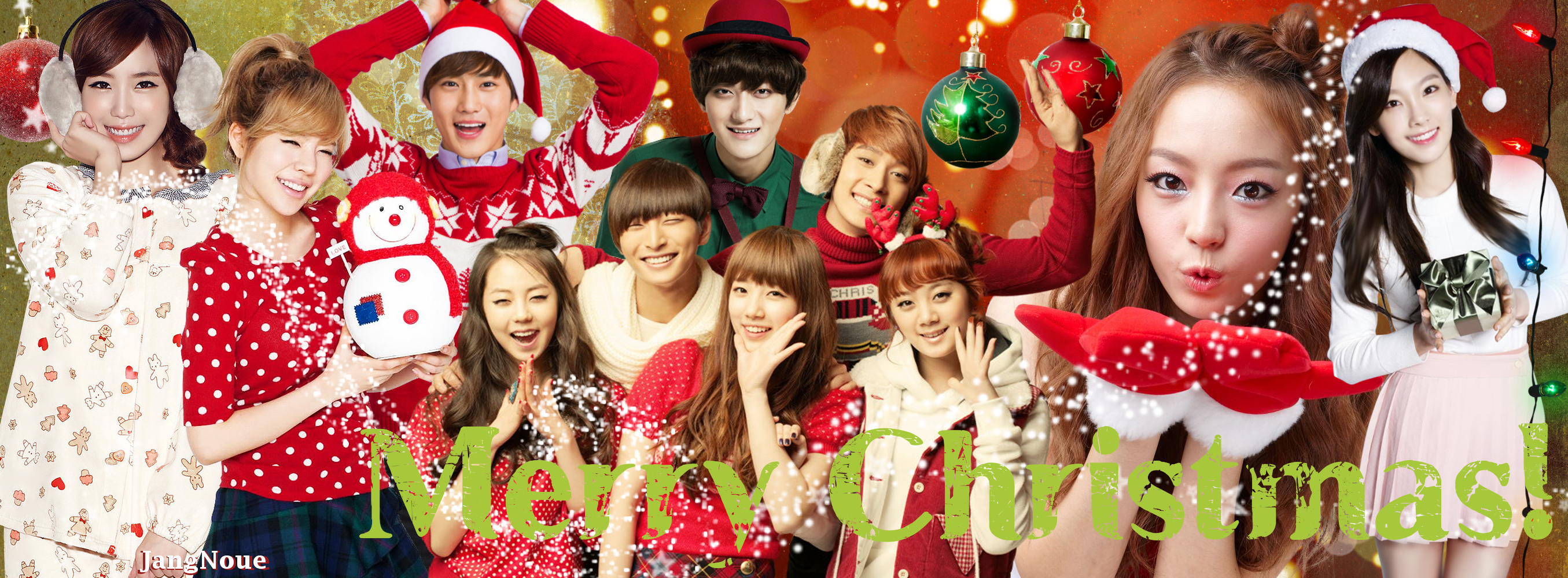 K Pop Christmas Facebook Cover By Jangnoue On Deviantart