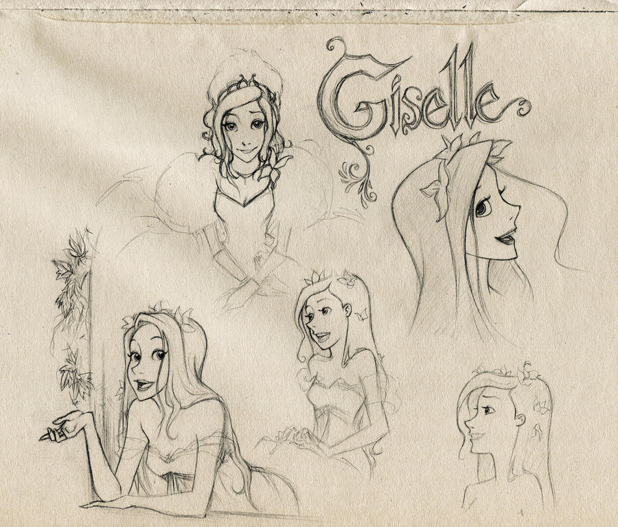 Enchanted-Giselle sketches by frodon