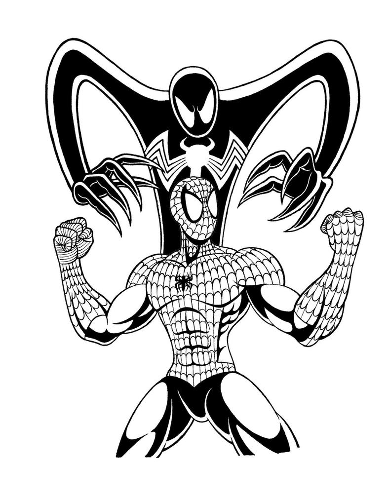 SpiderMan and Symbiote Tattoo Design by MysticForces on DeviantArt