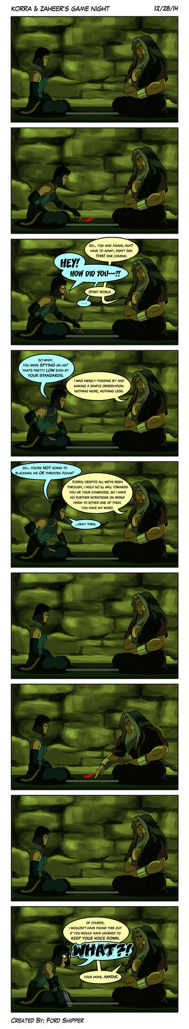Korra and Zaheer's Game Night by Mystic-Forces