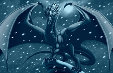 Ice Dragon Gift Illustration by Mystic-Forces