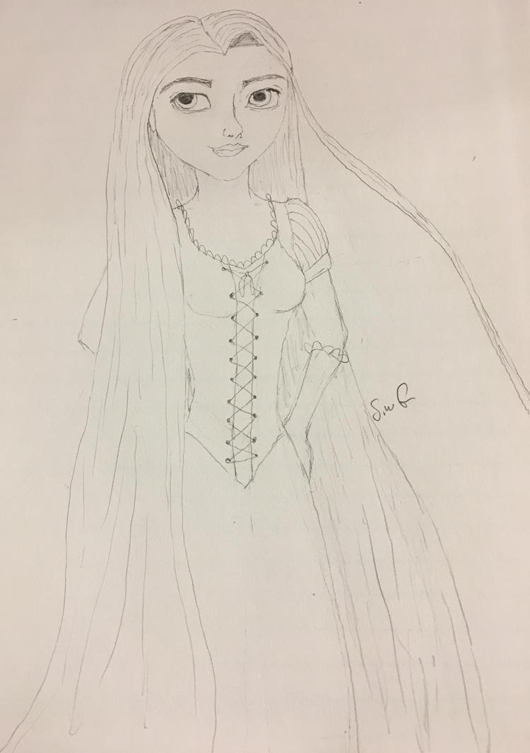 Anime style Rapunzel by swgunn