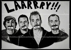 Impractical Jokers Portrait Drawing by DrawingsByDerek